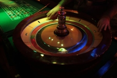 Casino with roulette and croupier's service